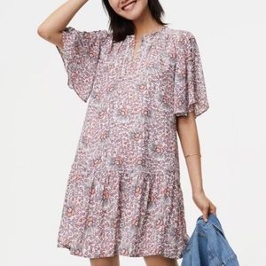3/$30 LOFT Flowerbud Button Dress